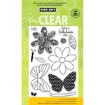 Hero Arts - Poly Clear - Clear Acrylic Stamps - Butterfly and Flower