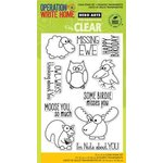 Hero Arts - Operation Write Home - Poly Clear - Clear Acrylic Stamps - Missing You