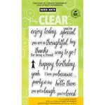 Hero Arts - Operation Write Home - Poly Clear - Clear Acrylic Stamps - Enjoy Today