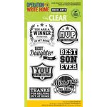 Hero Arts - Operation Write Home - Poly Clear - Clear Acrylic Stamps - Youre a Winner