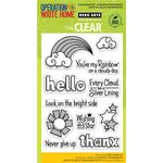 Hero Arts - Operation Write Home - Poly Clear - Clear Acrylic Stamps - Youre a Rainbow