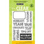 Hero Arts - Poly Clear - Clear Acrylic Stamps - Hurray
