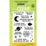Hero Arts - Poly Clear - Clear Acrylic Stamps - Shoot for the Moon