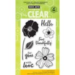 Hero Arts - Poly Clear - Clear Acrylic Stamps - Hello Flowers