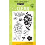 Hero Arts - Poly Clear - Clear Acrylic Stamps - Night and Day Flowers