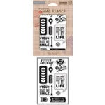 Hero Arts - Basic Grey - Grand Bazaar Collection - Poly Clear - Clear Acrylic Stamps - You Make Me Smile