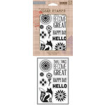 Hero Arts - Basic Grey - Grand Bazaar Collection - Poly Clear - Clear Acrylic Stamps - Small Things