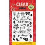 Hero Arts - Poly Clear - Christmas - Clear Acrylic Stamps - Holiday Petals and Leaves