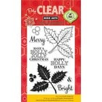 Hero Arts - Poly Clear - Christmas - Clear Acrylic Stamps - Holly Jolly