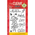 Hero Arts - Poly Clear - Christmas - Clear Acrylic Stamps - Under The Mistletoe