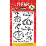 Hero Arts - Poly Clear - Clear Acrylic Stamps - Thankful for You