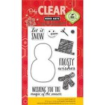 Hero Arts - Poly Clear - Christmas - Clear Acrylic Stamps - Frosty Wishes