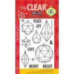 Hero Arts - Poly Clear - Christmas - Clear Acrylic Stamps - Christmas Crystals
