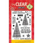 Hero Arts - Poly Clear - Christmas - Clear Acrylic Stamps - Family and Friends