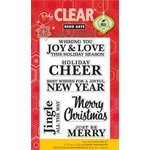 Hero Arts - Poly Clear - Christmas - Clear Acrylic Stamps - Joy and Love