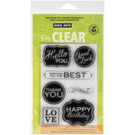 Hero Arts - Poly Clear - Clear Acrylic Stamps - Chalkboard Style Messages