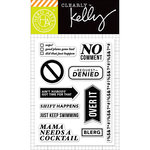 Hero Arts - Kelly Purkey Collection - Clear Acrylic Stamps - No Comment