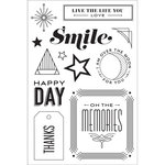 Hero Arts - BasicGrey - Clear Acrylic Stamps - Happy Day