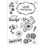 Hero Arts - BasicGrey - Clear Acrylic Stamps - Good Day