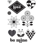 Hero Arts - BasicGrey - J'Adore Collection - Clear Acrylic Stamps - Hello Love