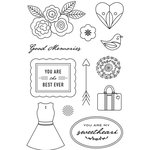 Hero Arts - BasicGrey - J'Adore Collection - Clear Acrylic Stamps - Good Memories