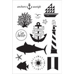 Hero Arts - BasicGrey - Adrift Collection - Clear Acrylic Stamps - Anchors Aweigh