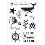 Hero Arts - BasicGrey - Adrift Collection - Clear Acrylic Stamps - Set Sail