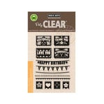 Hero Arts - Poly Clear - Clear Acrylic Stamps - Papel Picado - Banners