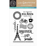 Hero Arts - Lia Griffith Collection - Clear Acrylic Stamps - Discover