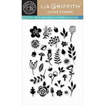 Hero Arts - Lia Griffith Collection - Clear Acrylic Stamps - Garden Flowers