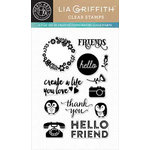 Hero Arts - Lia Griffith Collection - Clear Acrylic Stamps - Friends