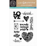 Hero Arts - Lia Griffith Collection - Clear Acrylic Stamps - Love