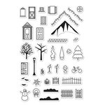 Hero Arts - Poly Clear - Clear Acrylic Stamps - 3D House Essentials