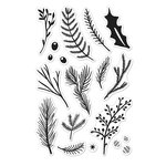 Hero Arts - Poly Clear - Christmas - Clear Acrylic Stamps - Holiday Pine Branches