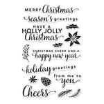 Hero Arts - Poly Clear - Christmas - Clear Acrylic Stamps - Holiday Greetings