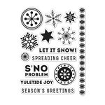 Hero Arts - Kelly Purkey Collection - Christmas - Clear Acrylic Stamps - S'no Problem