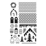 Hero Arts - Lia Griffith Collection - Christmas - Clear Acrylic Stamps - Make a Gingerbread House