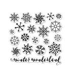 Hero Arts - Lia Griffith Collection - Christmas - Clear Acrylic Stamps - Snowflakes