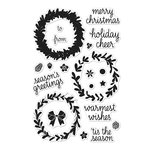Hero Arts - Poly Clear - Christmas - Clear Acrylic Stamps - Color Layering Wreath