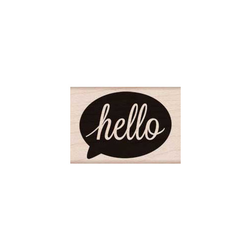 Hero Arts - Woodblock - Wood Mounted Stamps - Hello Bubble
