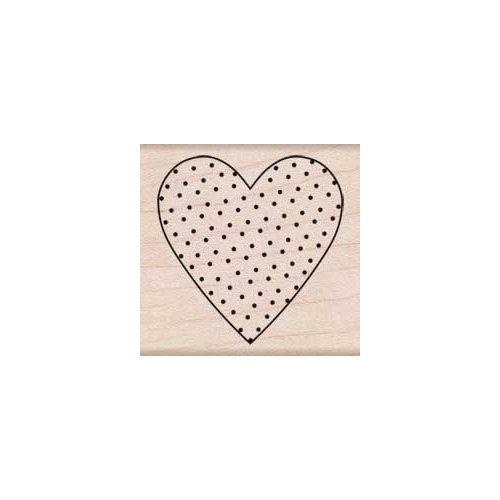 Hero Arts - Woodblock - Wood Mounted Stamps - Polka Dot Heart