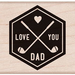 Hero Arts - Wood Block - Wood Mounted Stamp - I Love You Dad