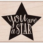 Hero Arts - Wood Block - Wood Mounted Stamp - You Are A Star
