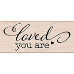 Hero Arts - Lia Griffith Collection - Woodblock - Wood Mounted Stamps - Loved You Are