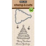 Hero Arts - Christmas - Die and Clear Acrylic Stamp Set - Christmas Tree