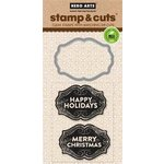 Hero Arts - Christmas - Die and Clear Acrylic Stamp Set - Christmas Tags