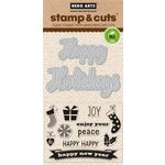 Hero Arts - Christmas - Die and Clear Acrylic Stamp Set - Fancy Cut Holidays