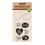 Hero Arts - Die and Clear Acrylic Stamp Set - Yes
