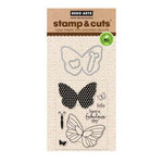 Hero Arts - Die and Clear Acrylic Stamp Set - Butterfly