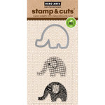 Hero Arts - Die and Clear Acrylic Stamp Set - Elephant